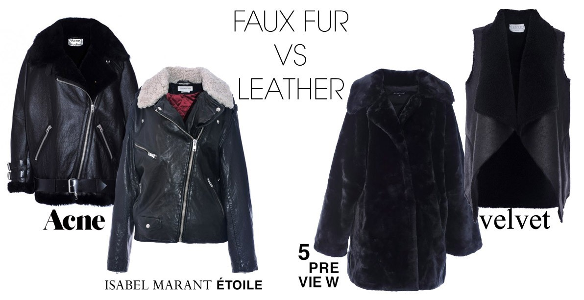 Trend faux vs leather