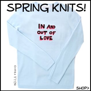 Spring Knitwear, shop online cashmere jumpers, slogan sweaters, must have!