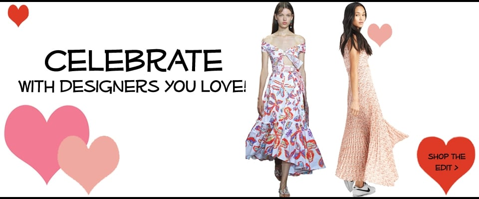 Celebrate with designers you love, evening dresses, must have heels