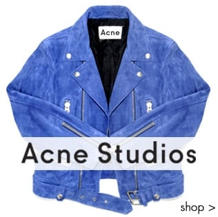 We Love Acne Studios New Season Collection, Suede Jackets, Denim Jeans, Must have trainers