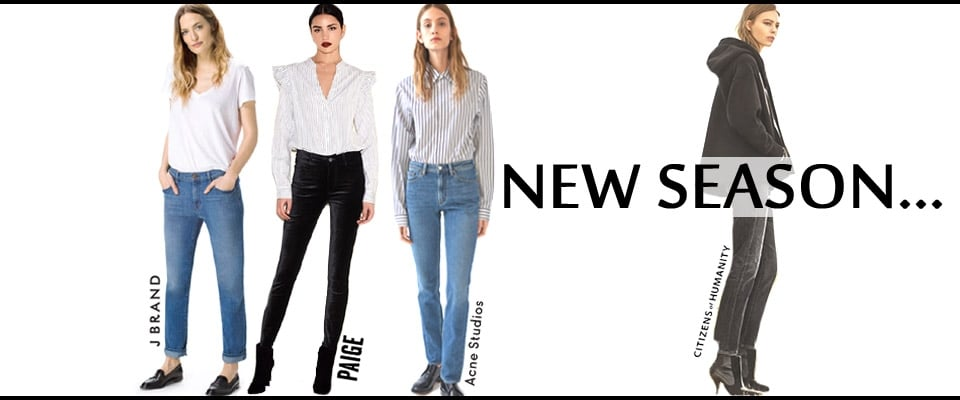 New Season Designer Denim, Shop Must Have Styles from designers you love!
