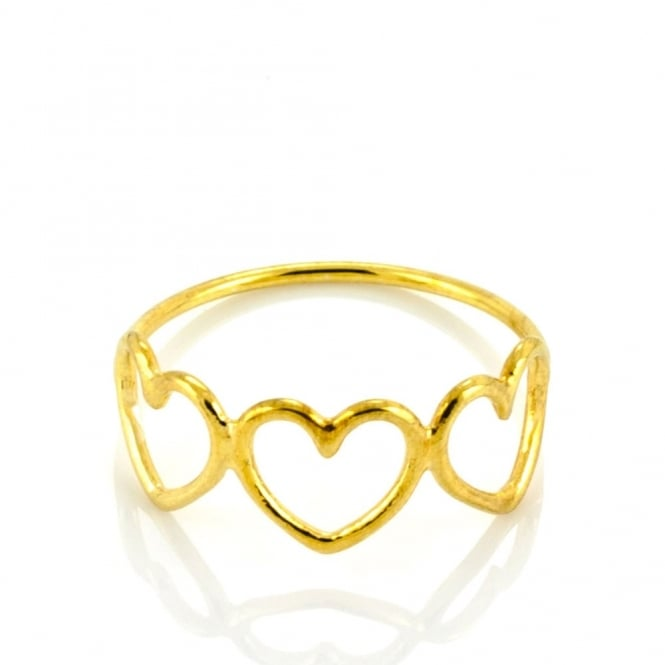 Written Mutli Heart Ring