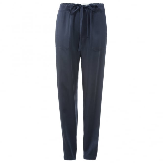 Satin Navy Trousers