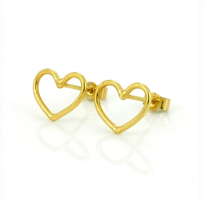 Written Heart Stud Earring