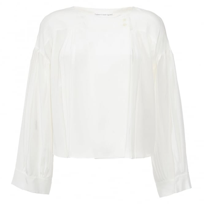 Pleat Silk Top