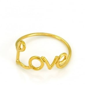 Laura Gravestock Written Love Ring