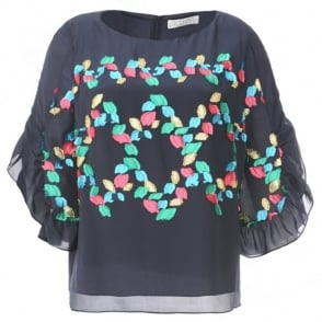 Peter Pilotto Leaf Embroidered Top
