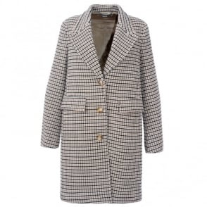 Stella McCartney Checked Button Coat