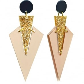 Toolally Art Deco Drop Earrings