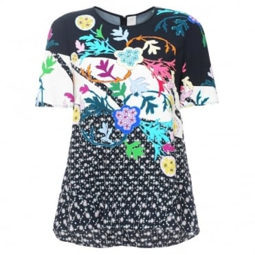 Peter Pilotto Short Sleeve Print Top