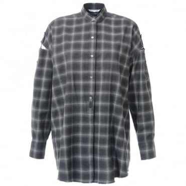 Helmut Lang Plaid Open Back Shirt