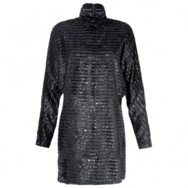 McQ Alexander McQueen High Neck Tunic Dress