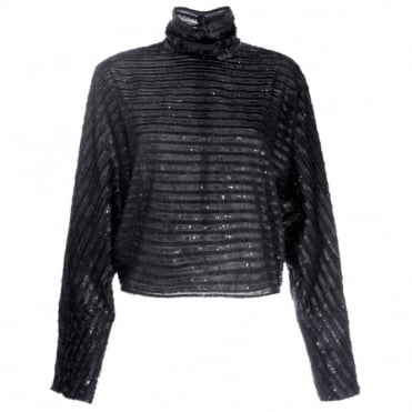 McQ Alexander McQueen Cropped High Neck Top