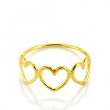 Laura Gravestock Written Mutli Heart Ring