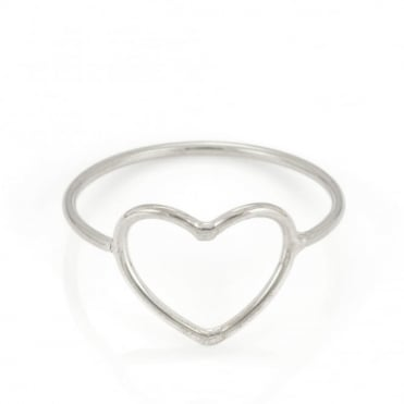 Laura Gravestock Written Heart Ring