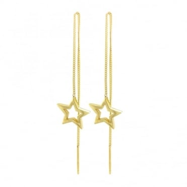 Laura Gravestock Written Star Thread Earrings