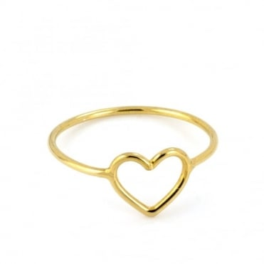 Laura Gravestock Written Tiny Heart Ring