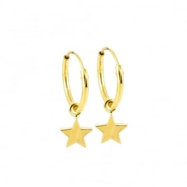 Laura Gravestock Star Hoop Earrings