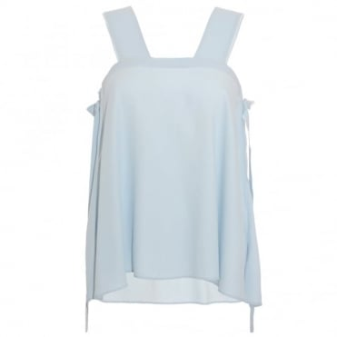 Helmut Lang Blue Strap Top