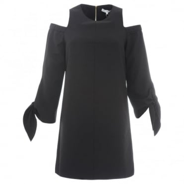 Tibi Cut Out Shoulder Dress