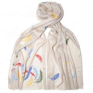 Janavi Feather Cashmere Scarf
