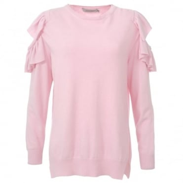 Preen Line Frill Pink Sweater