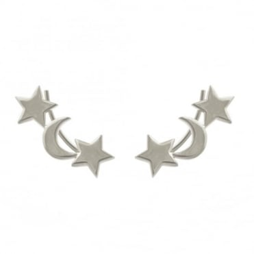 Laura Gravestock Moon And Star Ear Climber