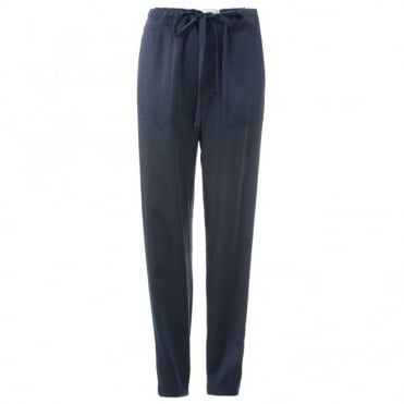 Vince Satin Navy Trousers