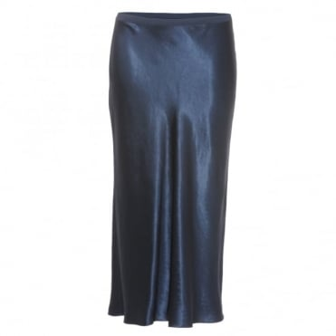 Vince Slip Navy Skirt