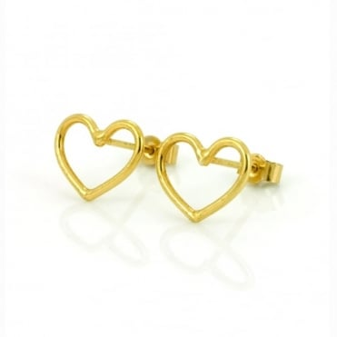Laura Gravestock Written Heart Stud Earring