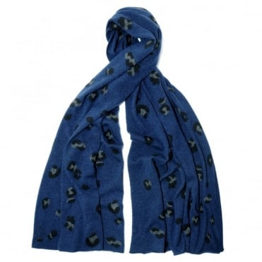 Queene & Belle Leo Navy Wrap Scarf