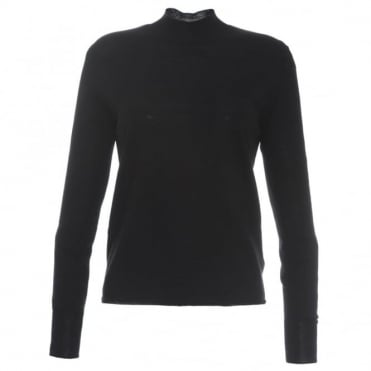 Oyuna Fitted Black Jumper
