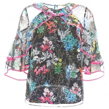 Peter Pilotto Ruffle Floral Top