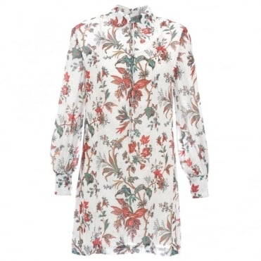 McQ Alexander McQueen Floral Shirt Dress