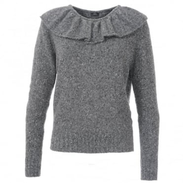 Joseph Ruffle Neck Sweater