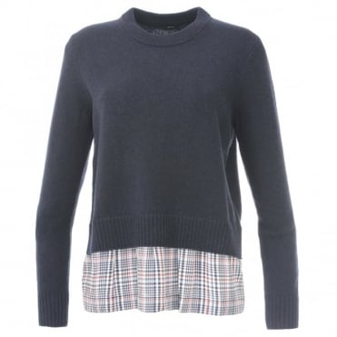 Joseph Check Trim sweater