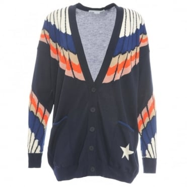 Stella McCartney Feather Print Cardigan
