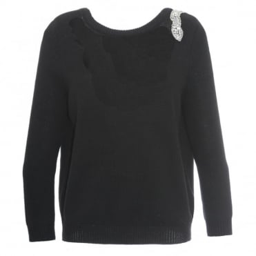 Ba&sh Opera Black Sweater