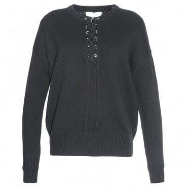 Robert Rodriguez Lace Up Sweater