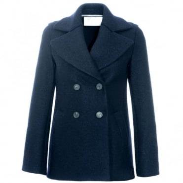 Harris Wharf London Double Breasted Peacoat