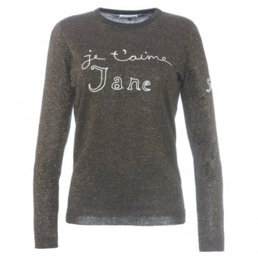 Bella Freud Je T'aime Jane Glitter Sweater