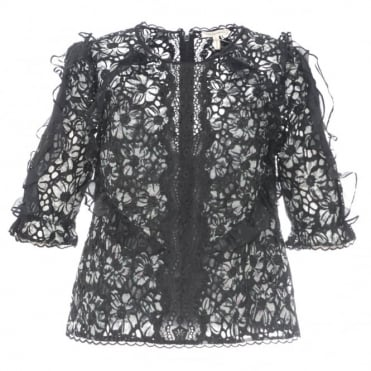 Rebecca Taylor Moonflower Embroidered Top