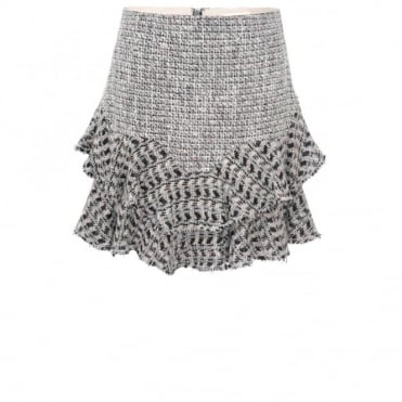 Rebecca Taylor Tweed Frill Skirt