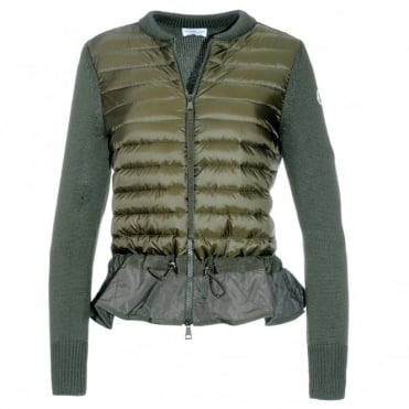 Moncler Knitted Peplum Jacket
