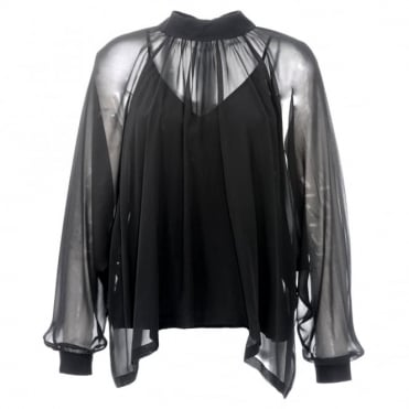 Robert Rodriguez Silk Button Back Blouse