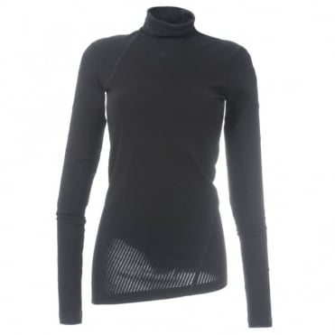 Helmut Lang Asymetrical Rib Knit Top