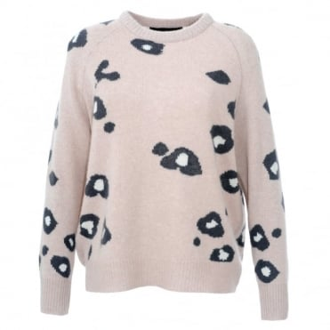 360 Cashmere Courtney Leopard Sweater