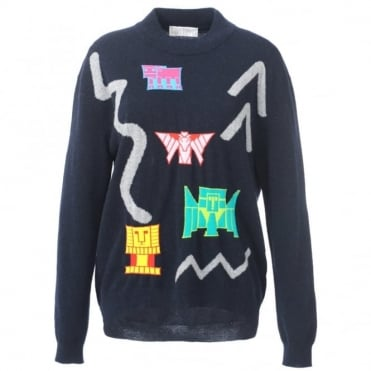 Peter Pilotto Navy Motif Sweater