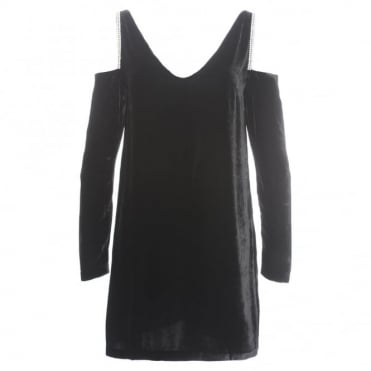 McQ Alexander McQueen Cold Shoulder Mini Dress