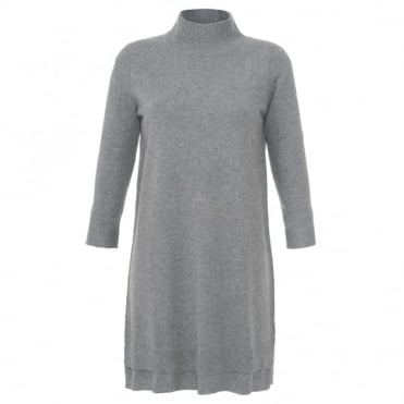 Repeat High Neck Jumper Dress